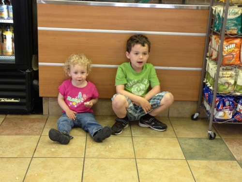 Hanging out at Subway