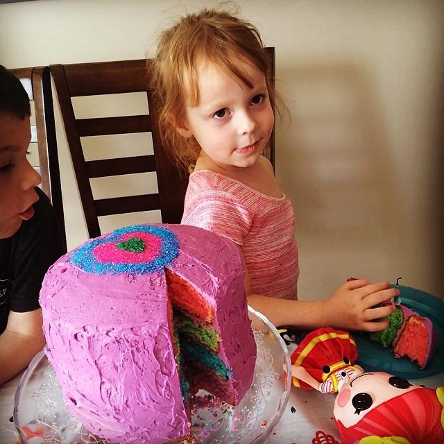 Carmen's rainbow cake.