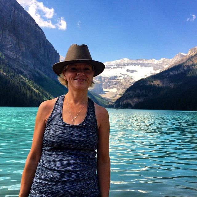 Pam at Lake Louise.