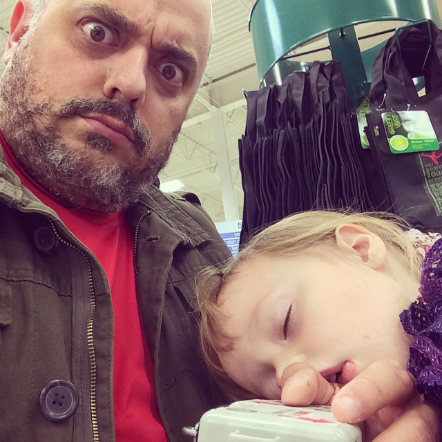 Grocery shopping nap.