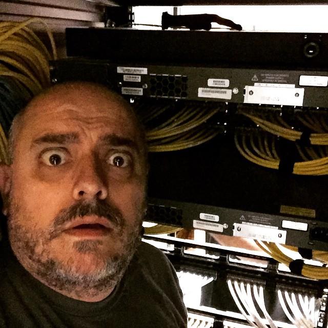 Stuck inside this rack.