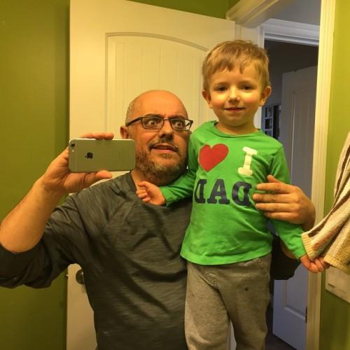 I ❤️ DAD selfie.