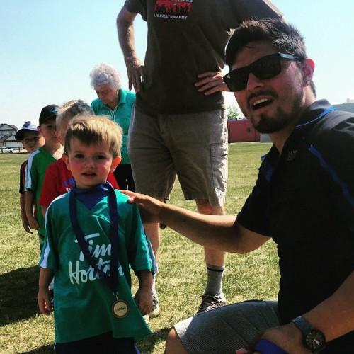 Maxi got a medal!