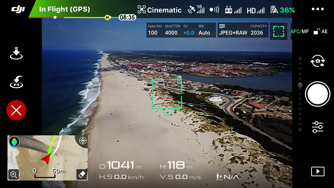 Perfect location and weather for a drone flight.