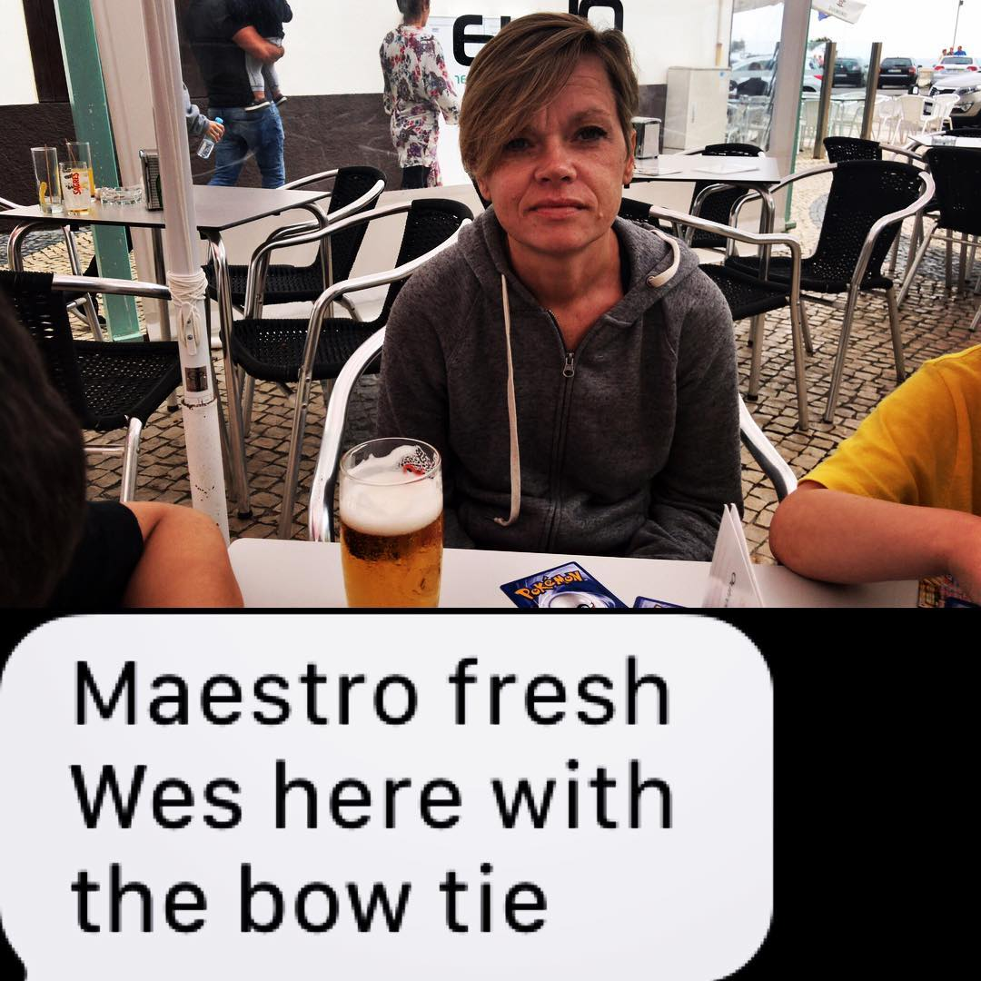 """Maestro Fresh Wes here with the bow tie."" #shitpamsays"