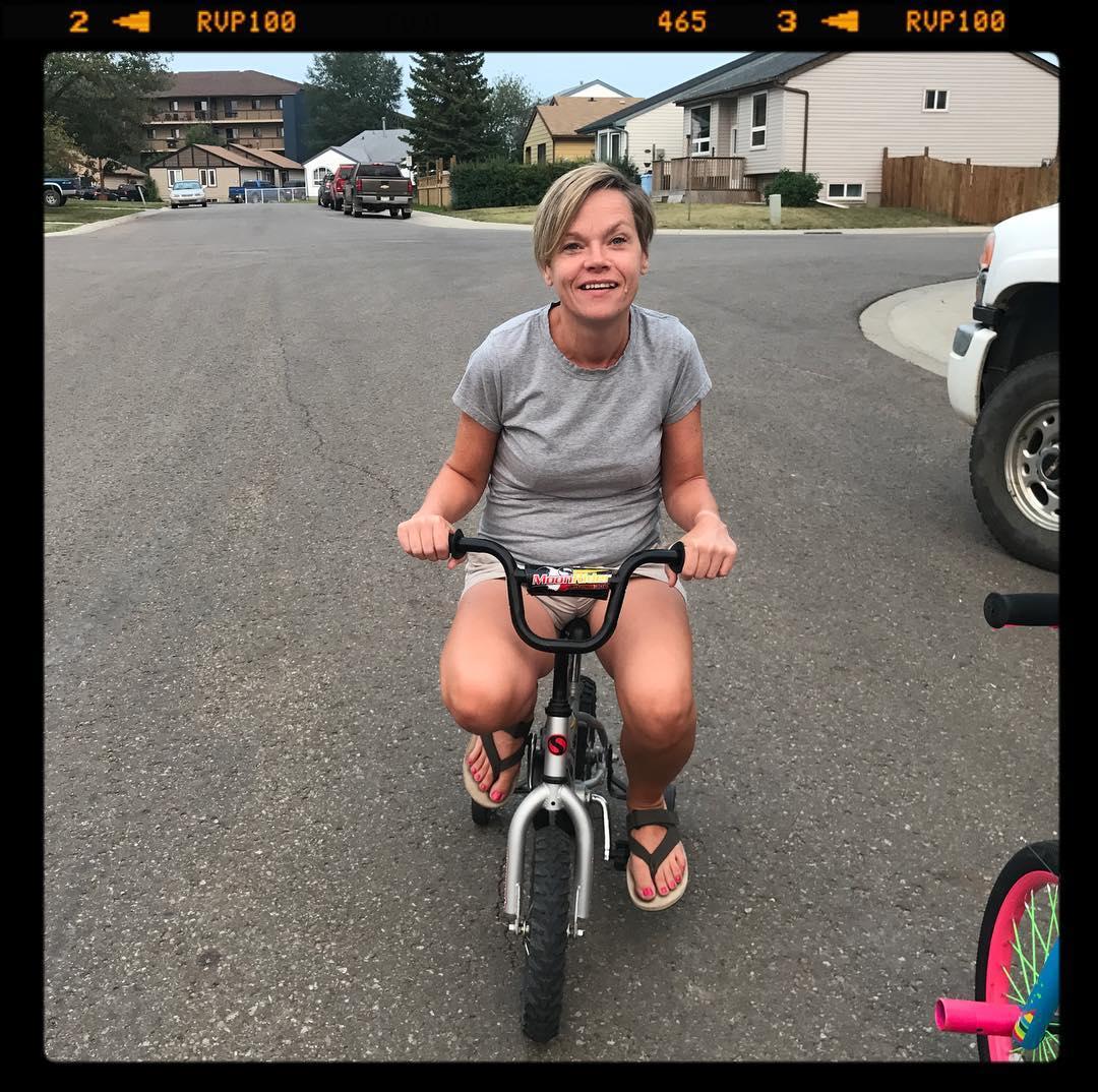 Pam's new bike.