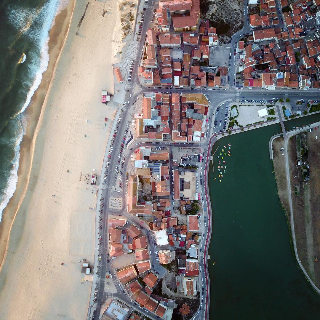 Praia de Mira, Barrinha from above.  See you in 8 months :-(