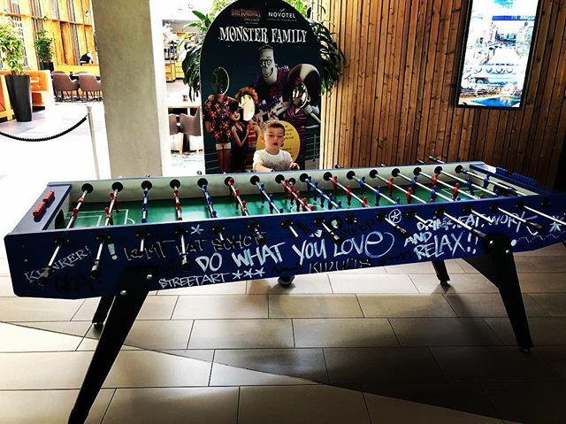 The biggest Foosball table I've ever seen.