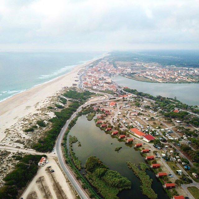 Praia de Mira and Barrinha from the sky.