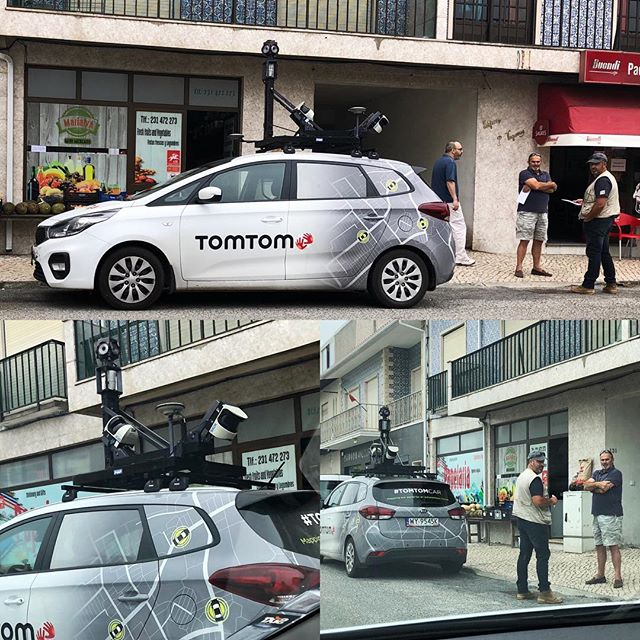 TomTom mapping car in Praia de Mira