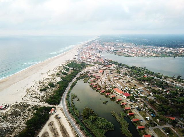 Praia de Mira, including the beach, Barrinha, and campground.