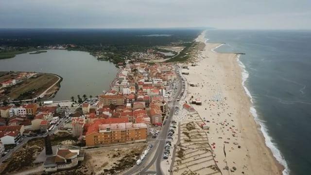 Praia de Mira drone time lapse video