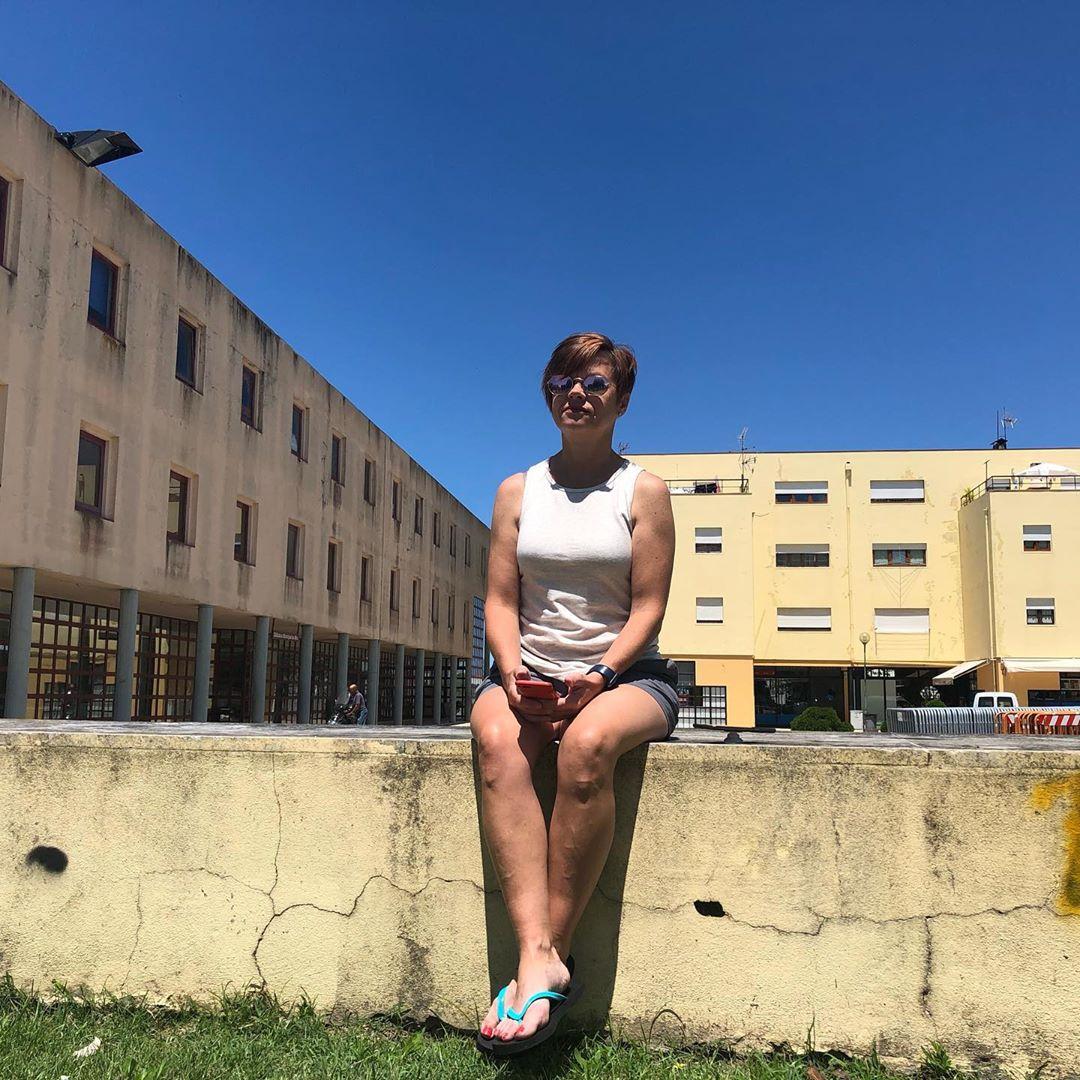 Pam waiting in Mira.