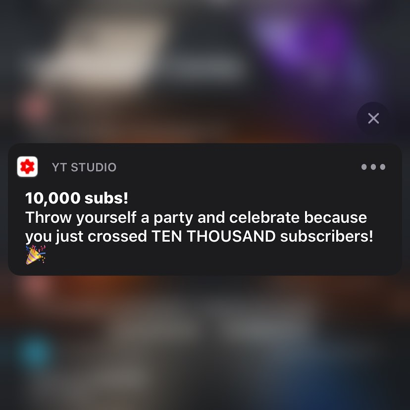 "Pizza Party!  10,000 YouTube subscribers!  My YouTube channel is ""mig399"" search for it on YouTube and subscribe to see boring videos of my kids, boring drone videos, and other non-offensive advertiser-friendly videos :-)"