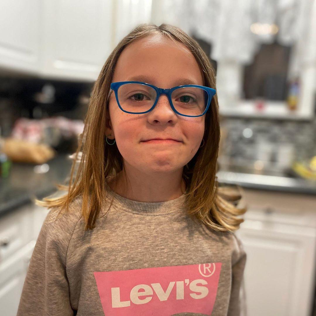 Carmen's new glasses.