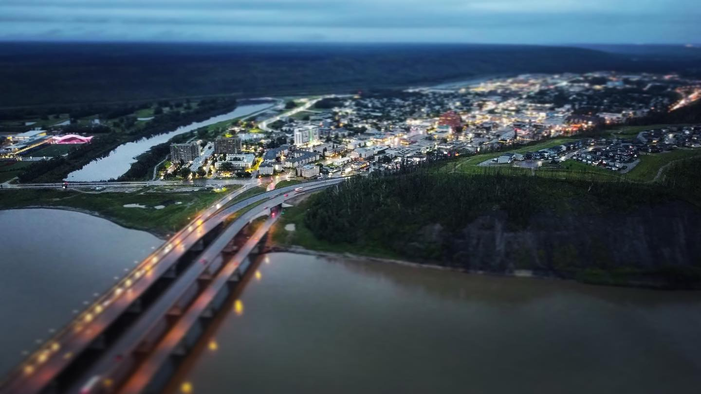 Downtown Fort McMurray, as seen from Thickwood.  #mavicmini photo #ymm